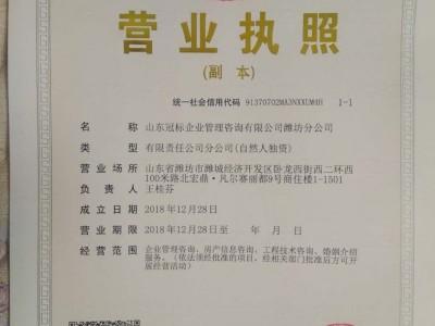 咨询办理服务体系认证-- 山东冠标企业管理咨询有限公司潍坊分公司