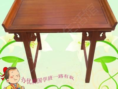 实木书法桌幼儿园培训课桌椅